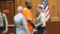 Brandon Browner In Handcuffs and Jumpsuit at Attempted Murder Hearing