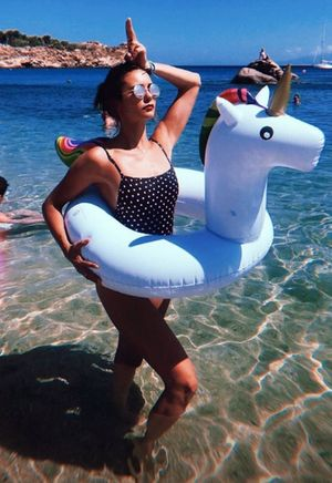 Nina Dobrev's Mykonos Vacation