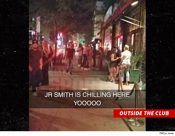 0801 jr smith outside club tmz 9 - J.R. Smith Under NYPD Investigation, Allegedly Stole and Chucked Cell Phone