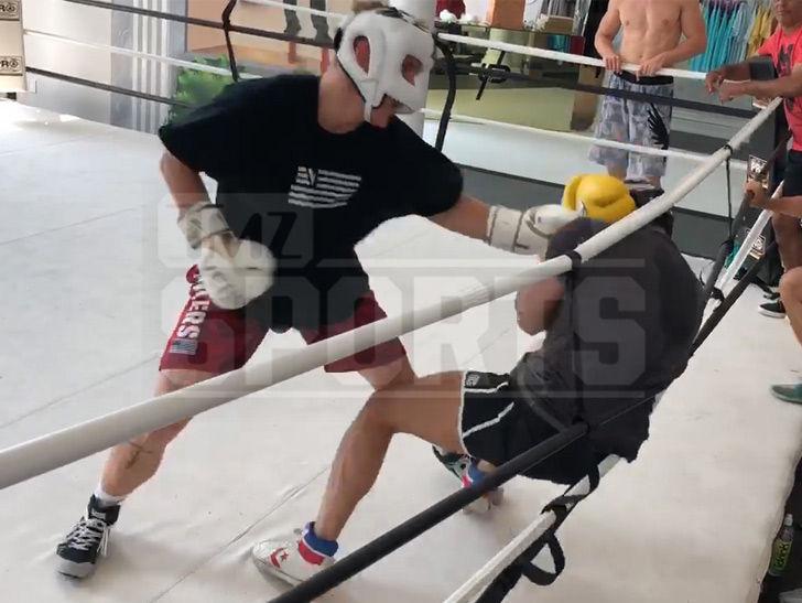 Jake Paul Pummels Opponent In Living Room Boxing Sesh