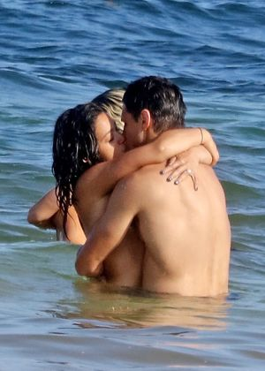 Gina Rodriguez and Joe LoCicero Locking Lips in Tulum