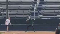 LeBron James Dominates Family Softball Game, Robs Wife Of A Hit!