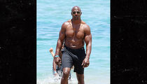 Terry Crews Celebrating 50th Birthday Shirtless in Maui