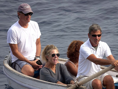 Tom Hanks and Bruce Springsteen Hit the High Seas, Much Different Vessels