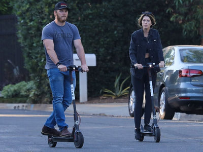 Chris Pratt & Katherine Schwarzenegger Rolling on Scooter Date