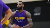 LeBron James Looks Freakin' Huge During Lakers Workout