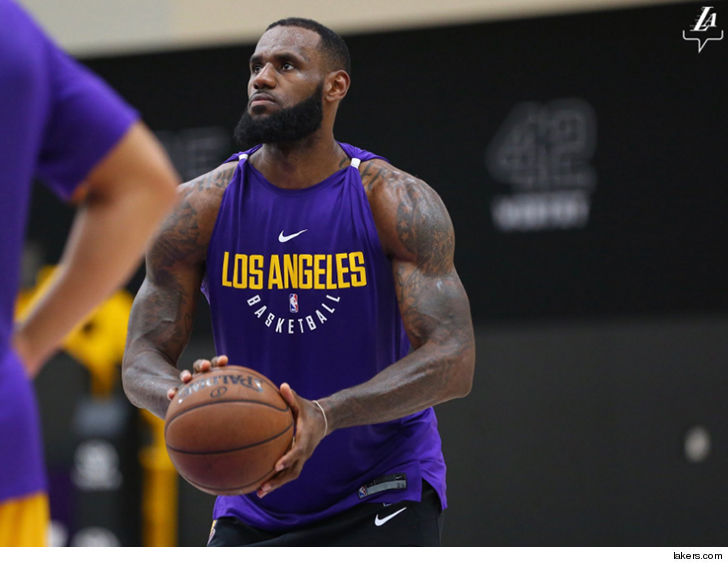 bdc23163fa2 If anyone thought LeBron James was going on the California Diet to get all  skinny now that he s a Laker