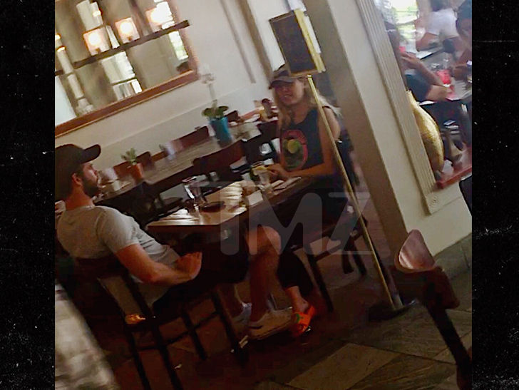 Miley Cyrus and Liam Hemsworth Chumming It Up at Lunch