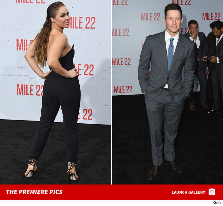 Ronda Rousey Slays at 'Mile 22' Premiere