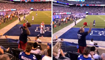 Baker Mayfield's First TD Ball Thrown Back By Giants Fan