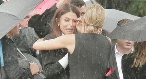 Bethenny Frankel Cries at Boyfriend Dennis Shields' Funeral