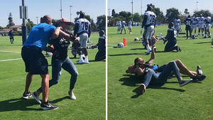 Cris Cyborg Roughs Up Chargers Coach At L.A. Training Camp
