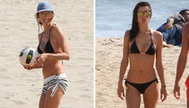 Alessandra Ambrosio's Bikini Beach Day ... Check Out What She's Sportin!