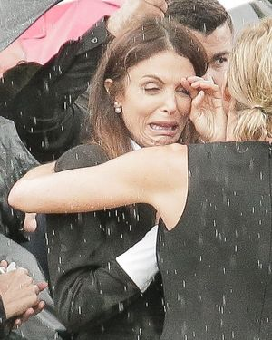 Bethenny Frankel Crying at Funeral for Dennis Shields
