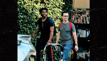 Chadwick Boseman & Joseph Gordon-Levitt Grab Superhero Lunch in L.A.