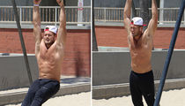 'Bachelorette' Star Colton Underwood Works On His Shirtless Body In Venice Beach