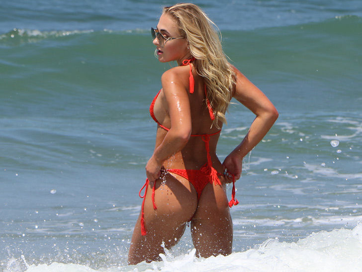 Katarina Zarutskie Makes Jaws Drop In Sexy Red Bikini
