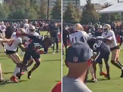 DeAndre Hopkins Throws Punches In Niners-Texans Brawl