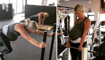 Matt Stafford's Wife Crushin' Weights at 38 Weeks Pregnant!