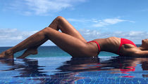 Guess Which Red-Hot Star Is Livin' On The Edge In This Pool Pic!