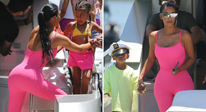 Kim Kardashian West Takes the Kids On a Yacht in Miami