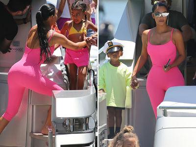 Kim Kardashian West Takes the Kids On a Yacht in Miami