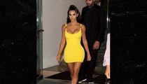 Kim Kardashian West Rocks Skin-Tight Versace Mini Dress