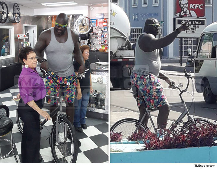 Big Shaq on Big Bike, All I Do Is Schwinn!