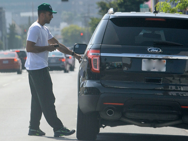 Kourtney Kardashian's Ex, Younes Bendjima, Hops in a Non-Luxury Ride