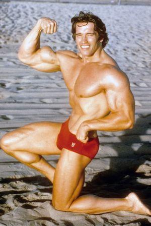Arnold Schwarzenegger's Flexing Photos
