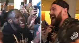 Deontay Wilder Confronts Tyson Fury In Belfast,…