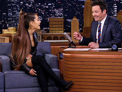 Ariana Grande Shares When She Knew She'd Marry Pete Davidson, Samples New Album on 'Fallon'