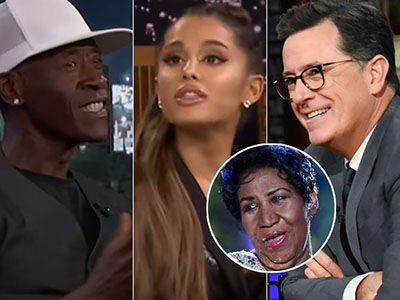Late-Night Pays Tribute to Aretha Franklin with Ariana Grande and Don Cheadle