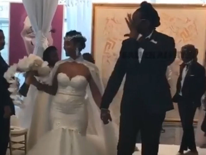 2 Chainz and Kesha Ward get married in Miami as Kim Kardashian and Kanye West look on.