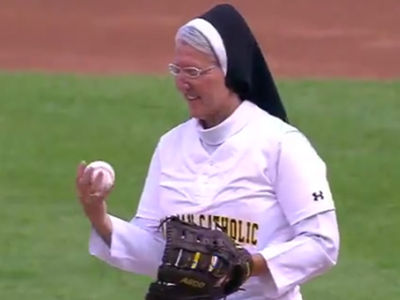 Nun Throws Out Epic First Pitch at Chicago White Sox Game
