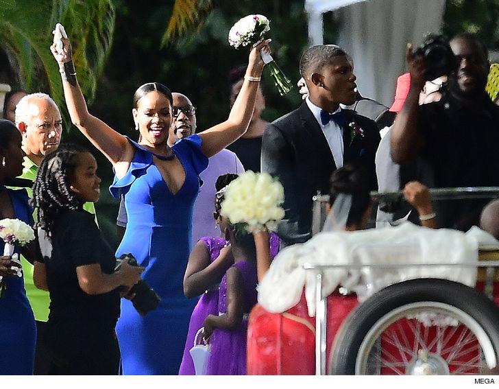 Rihanna Is a Beautiful Bridesmaid in BFF's Wedding in Barbados