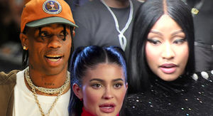 Travis Scott Moves Seats Away From Nicki Minaj At VMAs