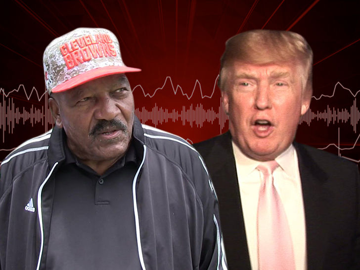 Jim Brown Praises Trump, 'I'm Pulling for the President'