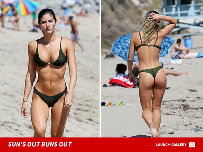 Ben Affleck's Rumored New GF Shauna Sexton Thongs Out in Malibu