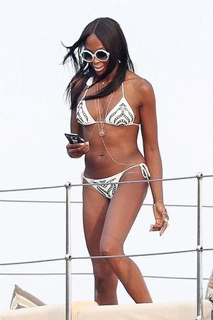 Naomi Campbell and David Blaine on Saint-Tropez Yacht