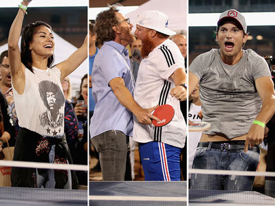 Mila Kunis, Ashton Kutcher Run the Tables at Clayton Kershaw's Ping Pong Tourney