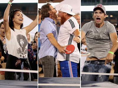 Mila Kunis, Ashton Kutcher Run the Tables at Clayton Kershaw's Ping Pong Tourney
