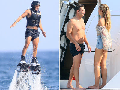 Ryan Seacrest Takes Off in Jetpack With Girlfriend in France