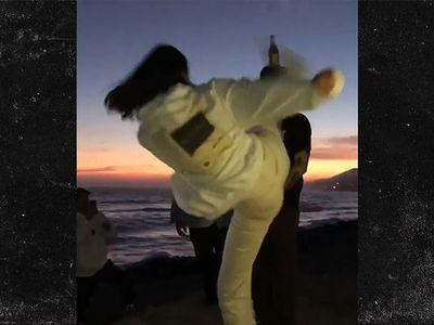 Kendall Jenner Karate Kicks Bottle off Friend's Head
