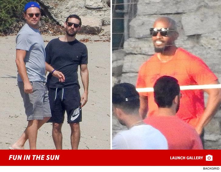 Leo DiCaprio, Jamie Foxx, Gerard Butler in Celebrity Volleyball Match