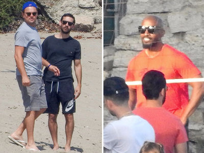 Leo DiCaprio, Jamie Foxx, Gerard Butler in Celebrity Volleyball Match