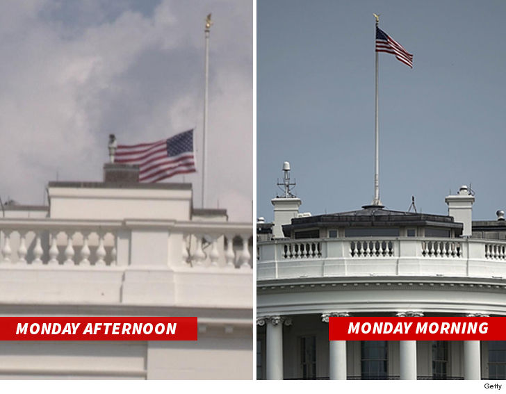 After flag flap, Trump flips back to half-staff