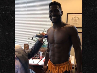 NFL's Antonio Brown Farts A LOT During Body Fat Test