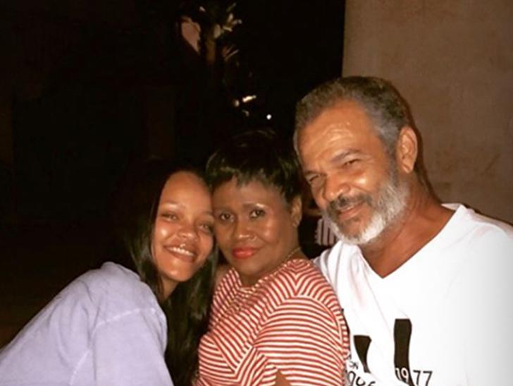 rihanna s rare photo with mom and dad together tmz com