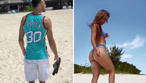 Zach LaVine and Gorgeous GF Hit the Bahamas, Avoiding Seafood Restaurants
